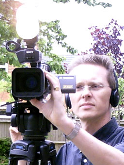 Award-winning director Brian Barnes directing a shoot
